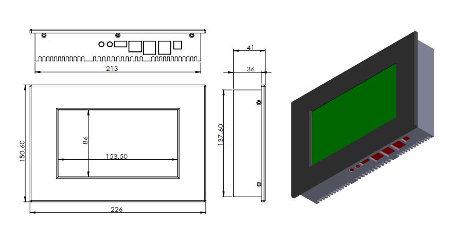 英特尔赛扬处理器四核J3160多触点无风扇台式电脑IP65工业平板电脑