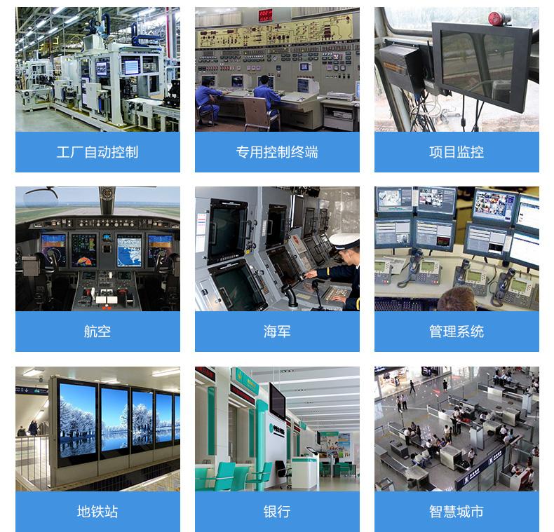工业显示器应用领域