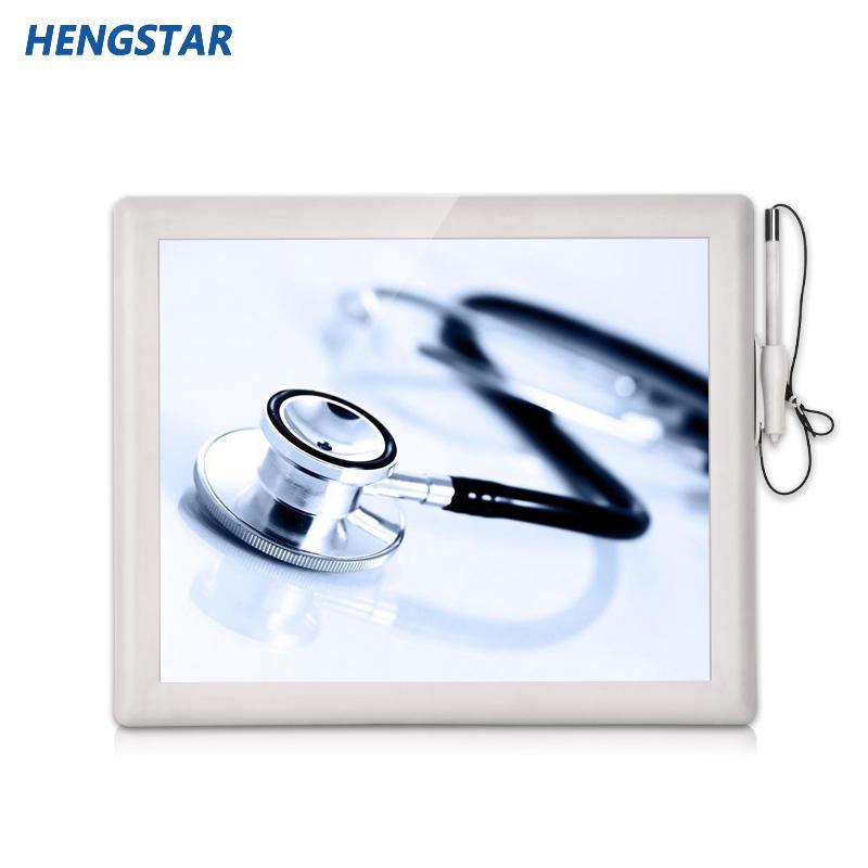 白色塑料外壳触摸屏医疗显示器